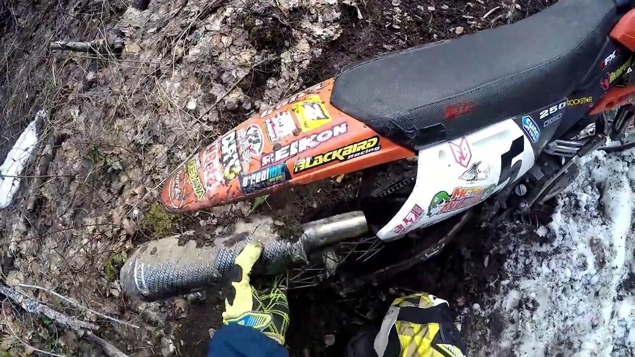 Gio 250cc Spring Enduro Climb! (Pt.2) Slinging Mud!