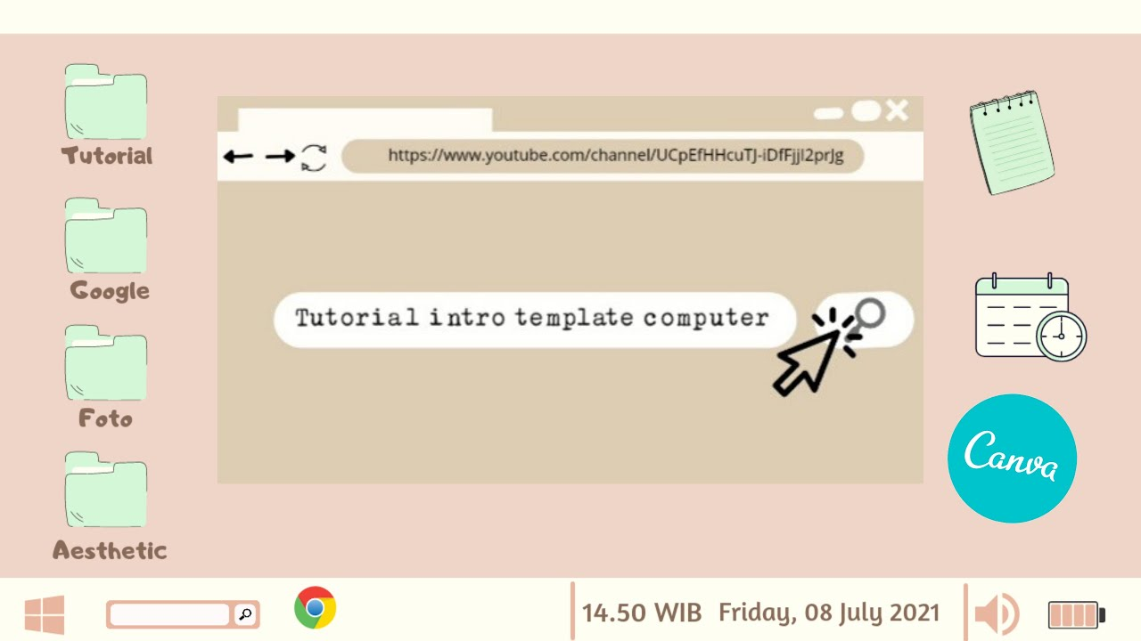 Download TUTORIAL INTRO LOGIN COMPUTER TEMPLATE AESTHETIC || DI CANVA
