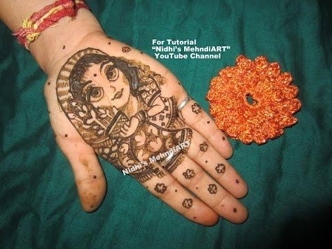 Mehndi Patterns For Little Girls : Harin dalal mehndi inspired gauri vrat occasion special cute