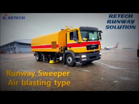 HIGH SPEED RUNWAY SWEEPER With Air Blasting Type-RETECH GSE