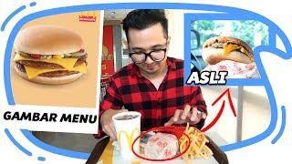 Download Video GAMBAR MENU vs ASLI NYA edisi McD, KFC dan Burger King - Mari Kita Bandingkan MP3 3GP MP4