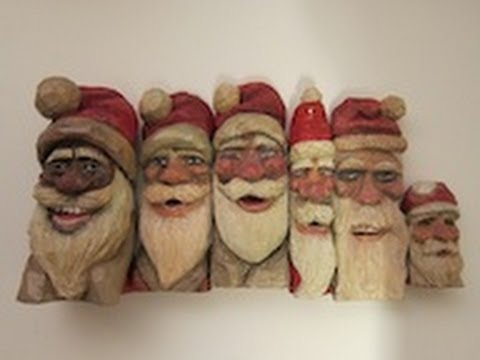 father christmas wood carvings 1