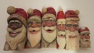 Woodcarving Santa Claus Christmas Carving Original