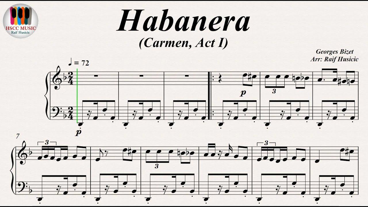 LA HABANERA CARMEN PARTITURA DOWNLOAD