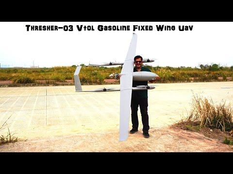 Thresher-03 Vtol Gasoline Fixed Wing Uav  For Mapping & Surveillance
