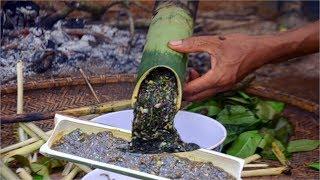 CANH THỤT Món Ăn Kỳ Lạ Nhất Việt Nam.Primitive Survival Cook Soup & Bamboo.Nấu Canh Ống Tre