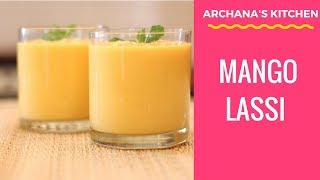 Mango Lassi Recipe (yogurt Smoothie) By Archana's Kitchen