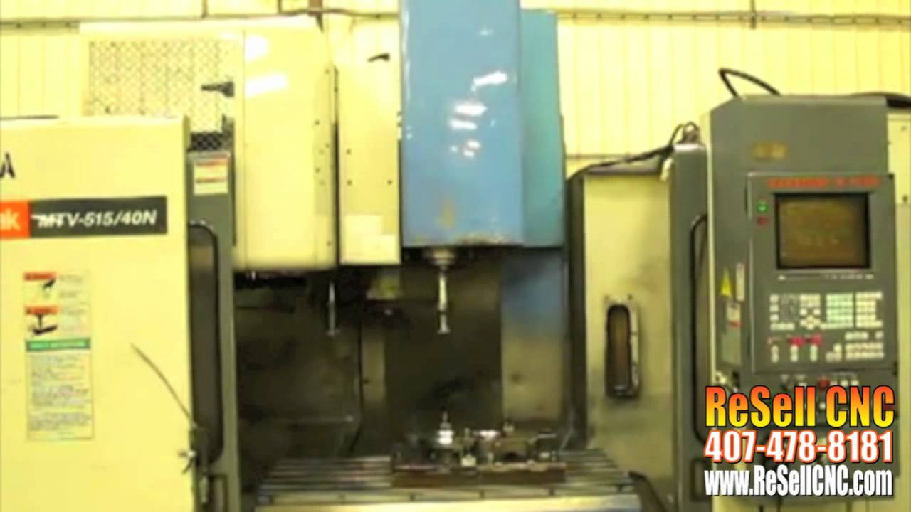Mazak MTV515-40N 4 Axis CNC Vertical Mill For Sale - ReSell CNC