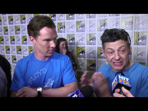 Benedict Cumberbatch on learning mo-cap from Andy Serkis in 'The Hobbit'