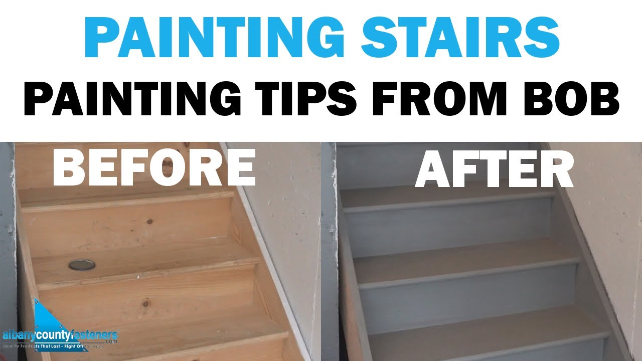 Tips Tricks For Painting Stairs Stringers Risers Treads | Painted Risers On Stairs | Flair | Painting | Stained | Basement | Hardwood