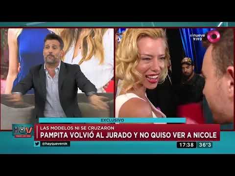 Pampita Volvió Al Jurado Y No Quiso Ver A Nicole Neumann