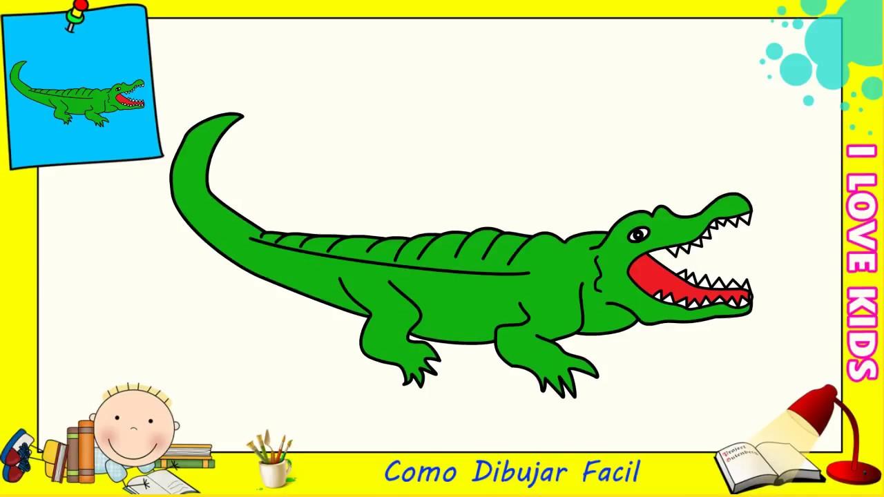 Dibujos Animados De Cocodrilos Para Colorear