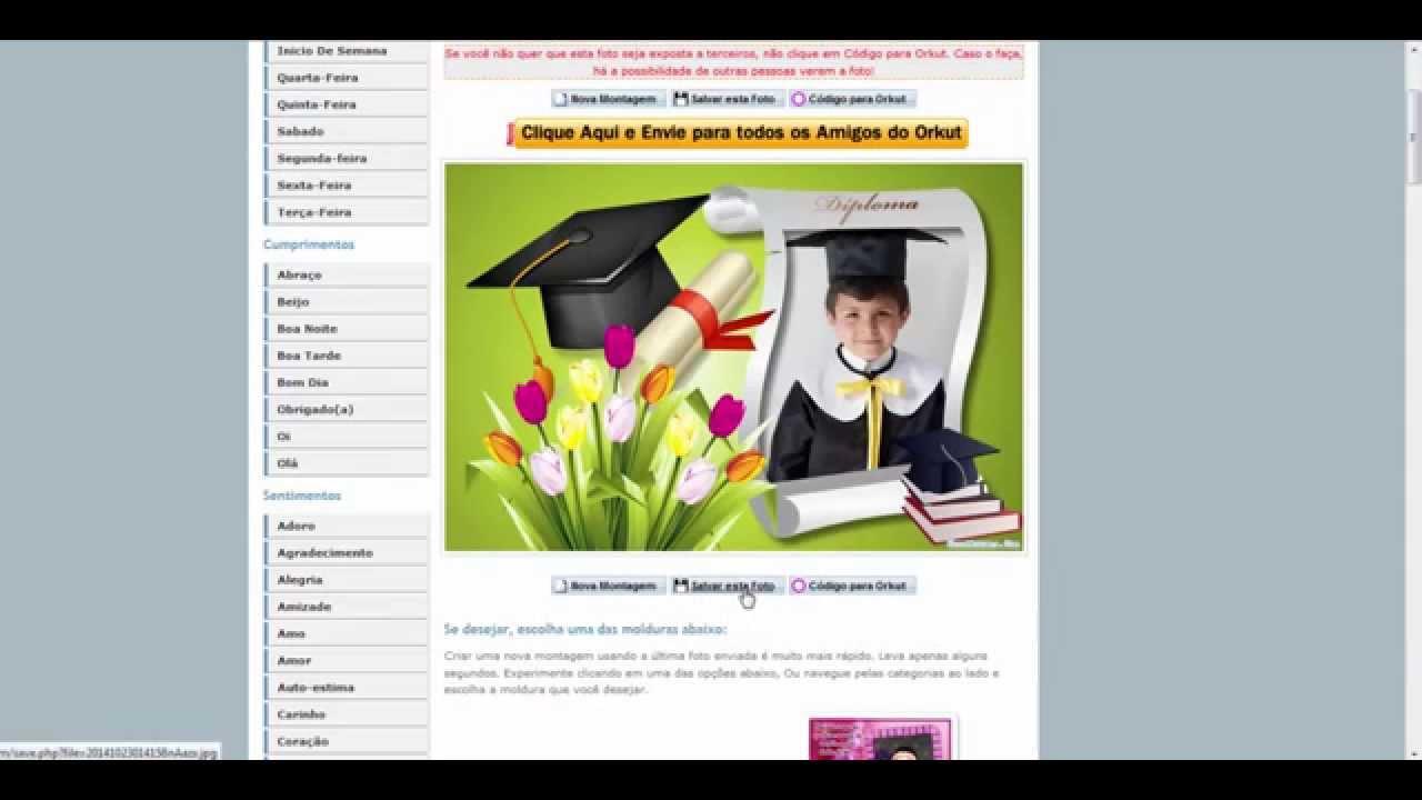 Crear un marco para graduación - YouTube