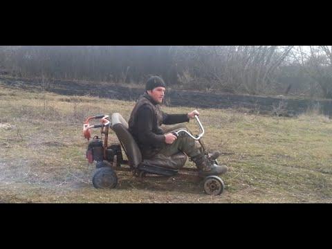 видео: Самодельный картинг из бензопилы