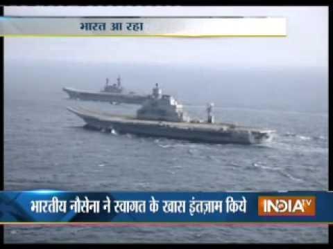 India's biggest aircraft INS Vikramaditya enters Arabian Sea