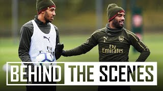 EXTRA FOOTAGE | Shooting practice | Iwobi chip shot | Lacazette madness