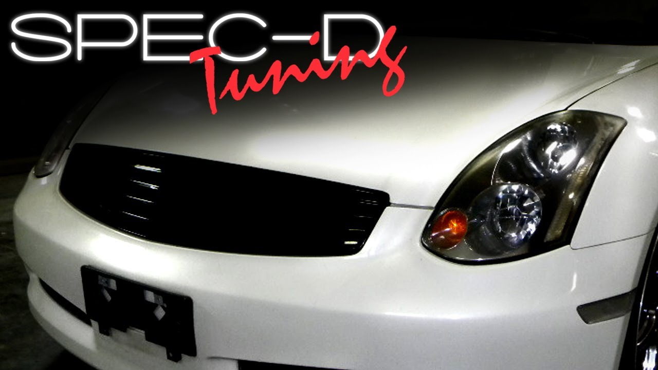 2007 Infiniti G35 Sedan >> SPECDTUNING INSTALLATION VIDEO: 2003-2007 INFINITI G35 ...