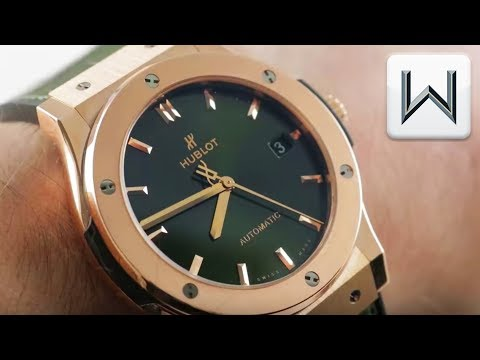 "Hublot Classic Fusion ""King Gold"" Green (511.OX.8980.LR) Luxury Watch Review"