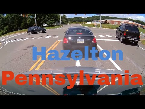 Driving Downtown - Hazelton - Pennsylvania - USA
