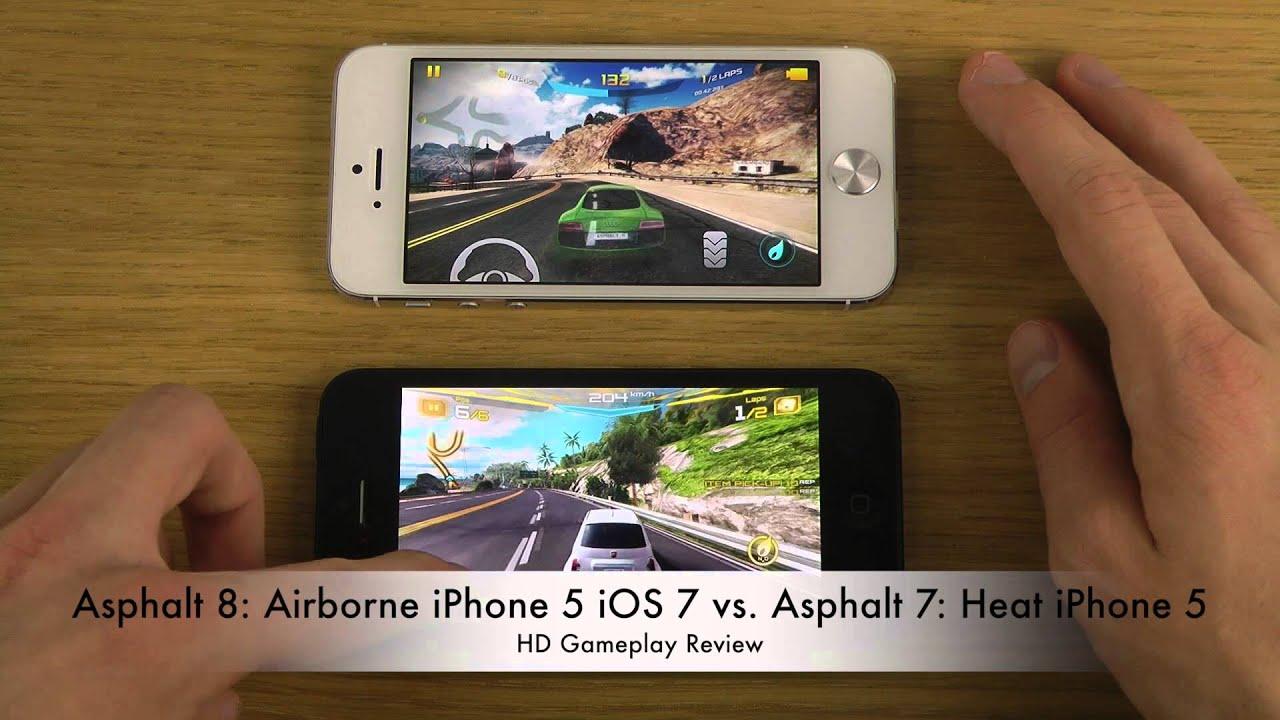 Iphone 7 Wallpaper Default Asphalt 8 Airborne Iphone 5 Ios 7 Vs Asphalt 7 Heat