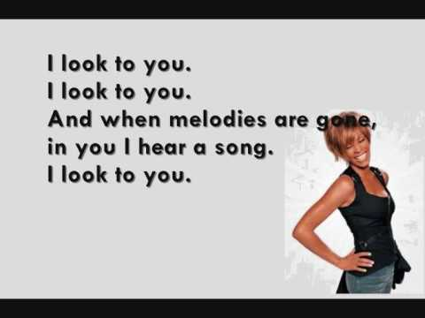 Whitney Houston - I Look to You (Lyrics on Screen)