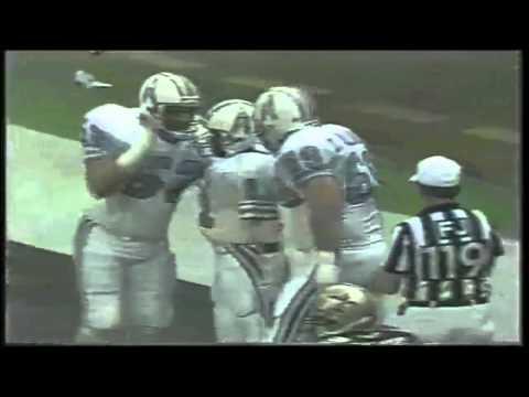 Warren Moon throws a 34 yard touchdown to Ernest Givins against the Saints 1987