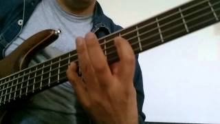 Cha cha style chords and improvisation bass guitar
