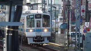 [警笛あり]小田急1000形「本厚木行き」向ヶ丘遊園駅到着