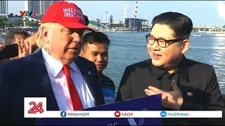 Bản sao Tổng thống Trump và Chủ tịch Kim cùng nhau dạo phố | VTV24