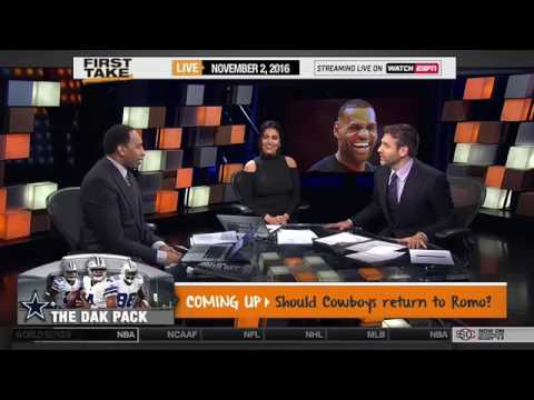 253433bc0da9 ESPN First Take LeBron James Trolls Warriors at Cavs Halloween Party ...