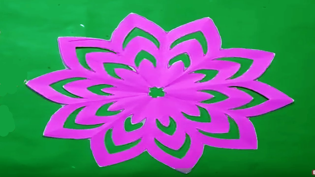 How To Make Simple Easy Paper Cutting Flower Designs Paper Flower