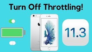 Turn Off Throttling on Your iPhone with iOS 11.3