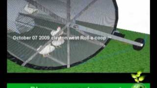 Roll-a-coop The Mobile Chicken Home, (3d Model)  Free Range Chicken Tractor