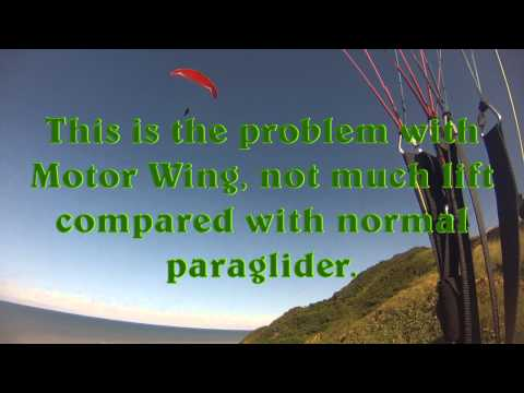 Paragliding using Action wing.