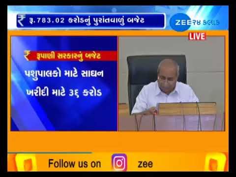 DY.CM Nitin Patel Addressed to Media on Gujarat Budget 2018-19-ZEE 24 KALAK