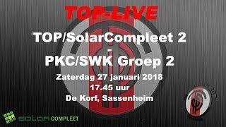 TOP/SolarCompleet 2 tegen PKC/SWK Groep 2, zaterdag 27 januari 2018