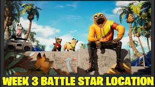 Fortnite semaine 3 bataille étoiles Location.NEW DOG SKIN!