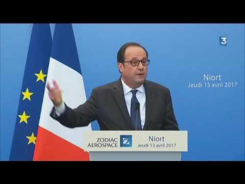 François Hollande en visite chez Zodiac Aerospace à Niort : les discours officiels