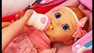 Говорящая кукла Настя Хочет Кушать Доминика КАК Мама Видео для девочек