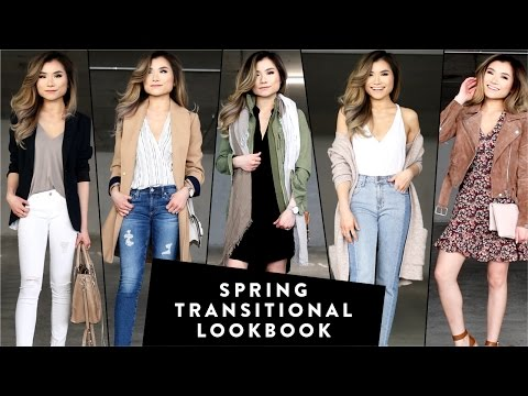 Winter to Spring Transitional Fashion Lookbook | Spring Outfit Ideas 2017 | Miss Louie