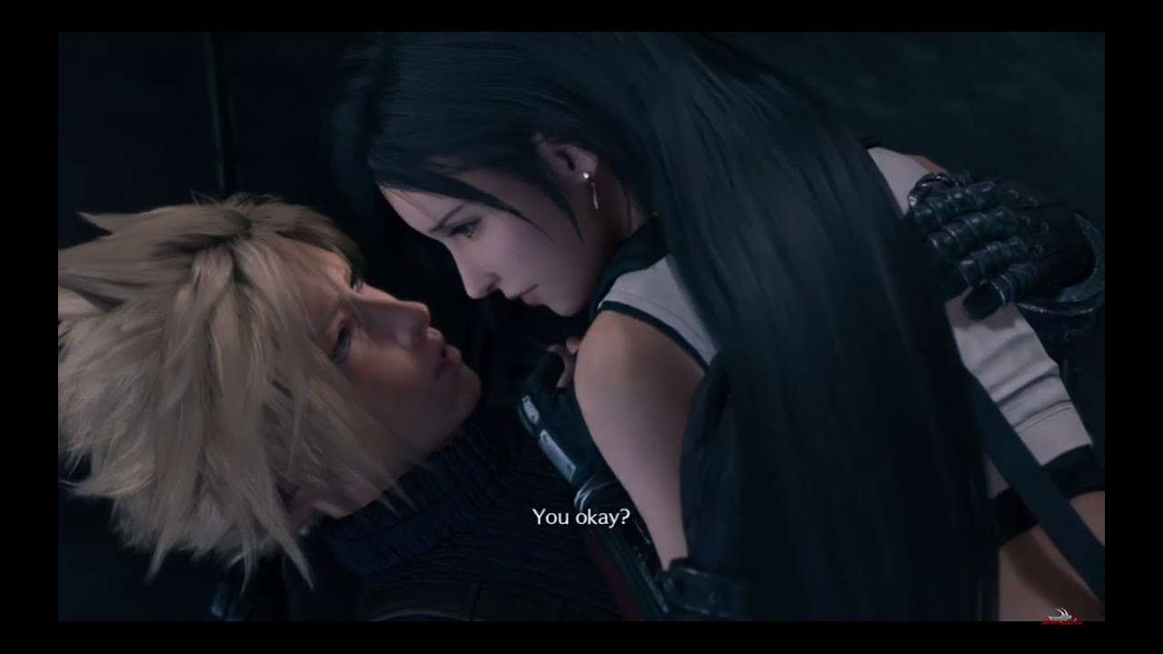 FINAL FANTASY VII REMAKE – Cloud and Tifa Jump Off Train