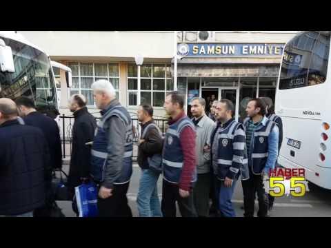 SAMSUN'DA FETÖ OPERASYONUNDA GÖZALTINA ALINAN 45 KİŞİ ADLİYEDE
