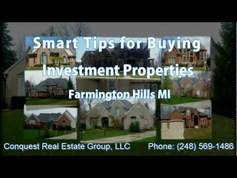 Smart Tips for Buying Investment Properties Farmington Hills MI - Conquest Real Estate