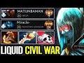LIQUID CIVIL WAR Matumbaman vs Miracle- Top 9000 MMR Epic 7.21 Dota 2