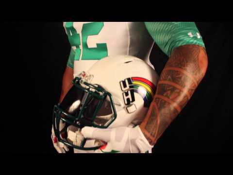 2015 University of Hawaii Rainbow Warrior Football Away Retro Uniform