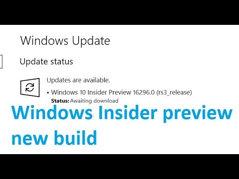 Windows 10 Insider Preview 16296 0 rs3 release Updates are available to  download