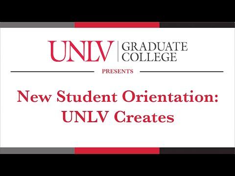 New Student Orientation: UNLV Creates