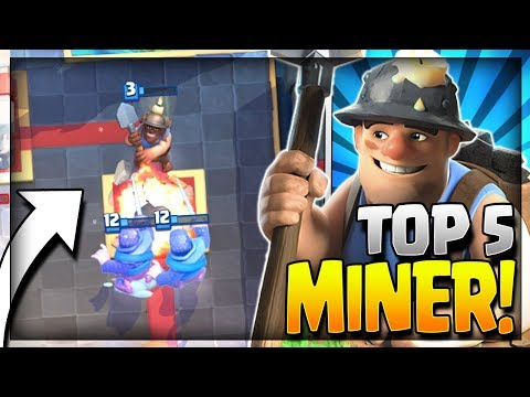 TOP 5 BEST MINER DECKS in CURRENT META!! Arena 8 to Arena 11 - Clash Royale Strategy