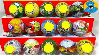 15 Игрушек Сюрпризов,Unboxing Chupa Chups Surprise Angry Birds,Peppa Pig,Смешарики