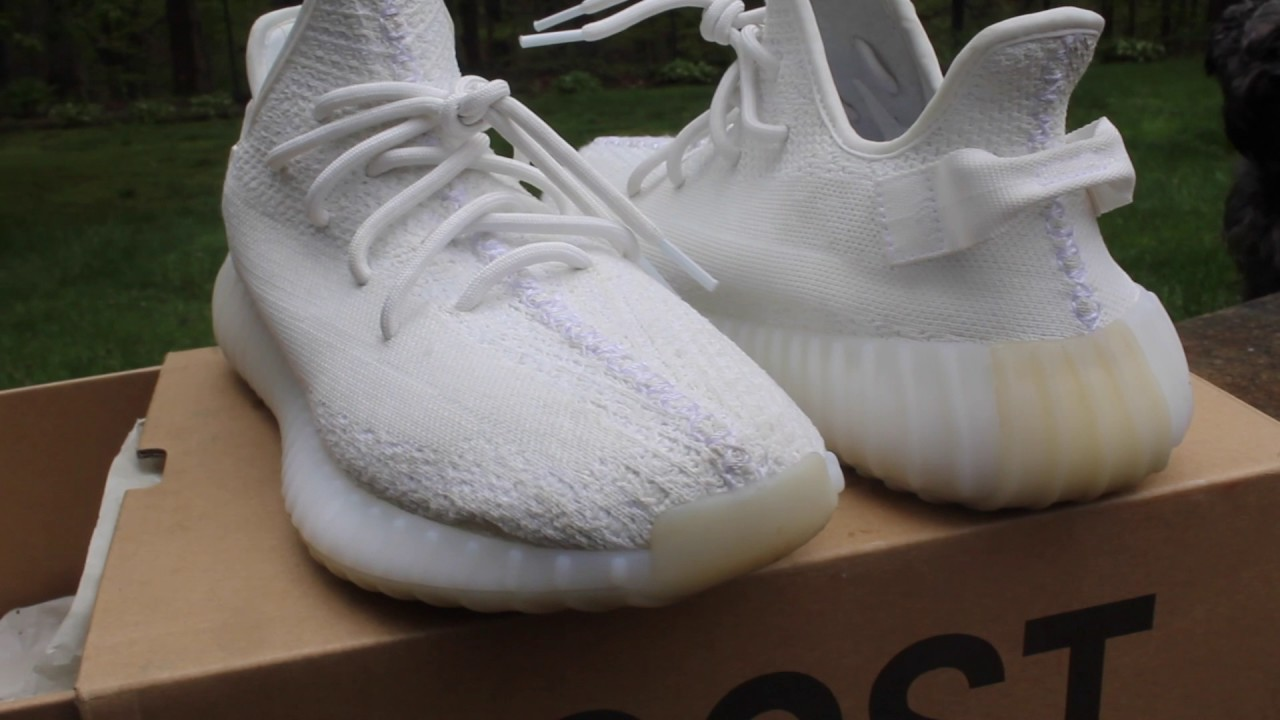 8e00b94c7 David s Cream White 350 V2 s (First batch) - YouTube